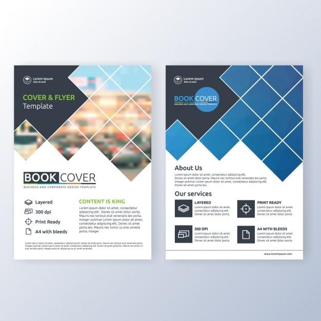 Business-Broschüre Vorlage Kostenlose Vektoren