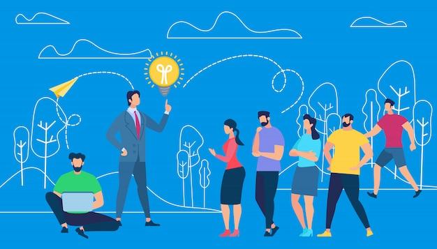 Business coacher training mitarbeiter im freien Premium Vektoren