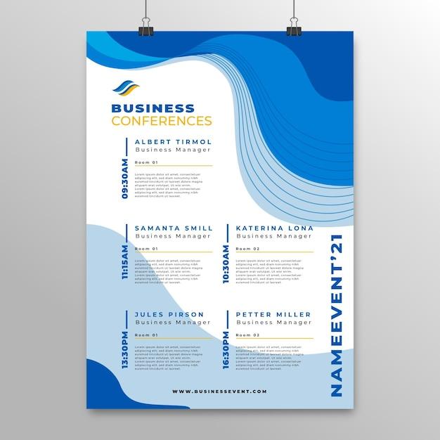 Business conference poster vorlage Kostenlosen Vektoren