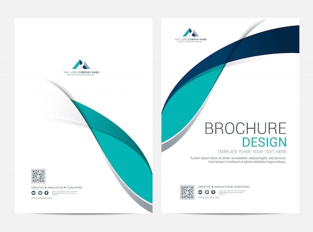 Business cover und back cover vorlage, korporatives minimalistisches design Premium Vektoren