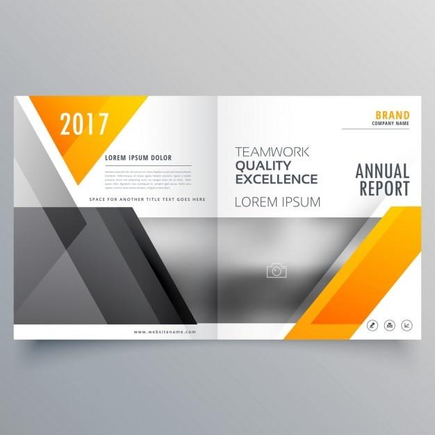 Business-Deckblattvorlage Layout Broschüre Design mit abstrakten ...