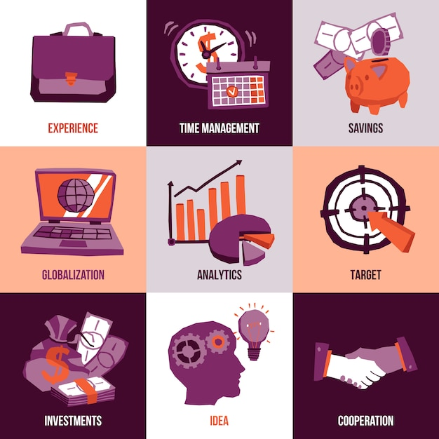 Business-design-konzept Kostenlosen Vektoren