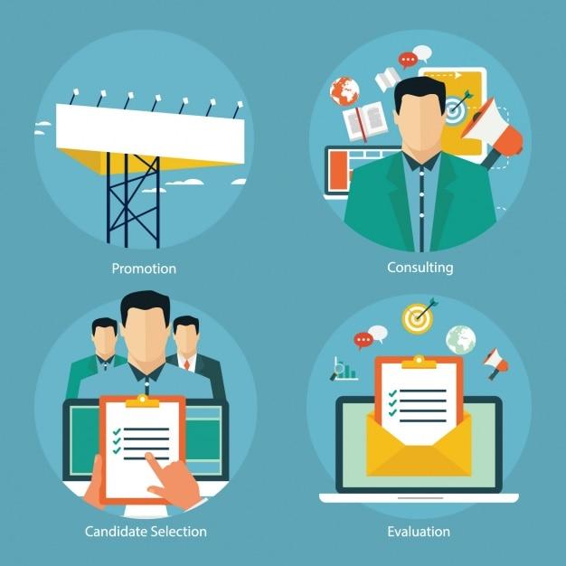 Business-designs kollektion Kostenlosen Vektoren