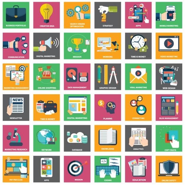 Business-Designs Kollektion Kostenlose Vektoren