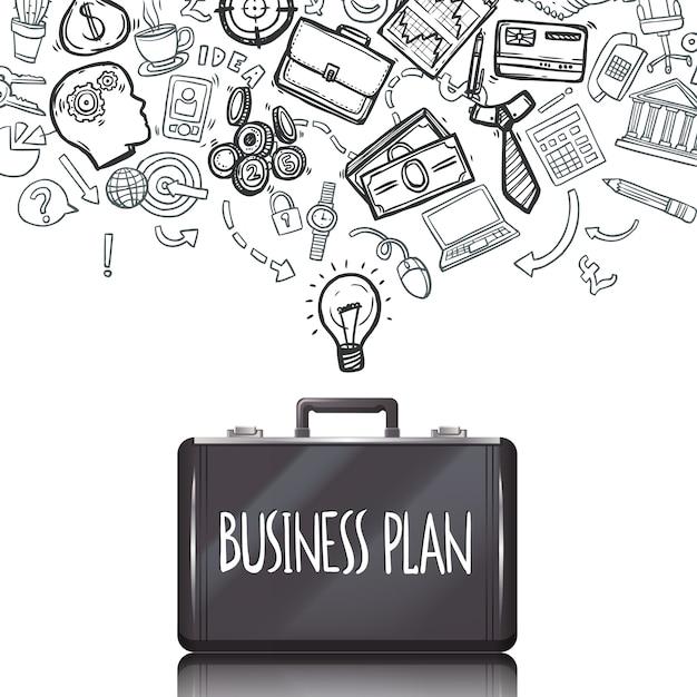 Business-Doodles-Set Kostenlose Vektoren