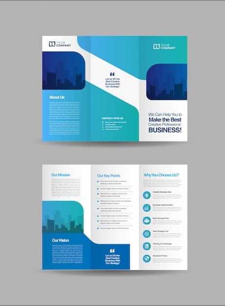 Business dreifach gefaltete broschüre vorlage Premium Vektoren