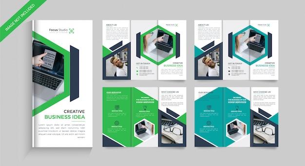 Business dreifach gefaltete broschüre Premium Vektoren