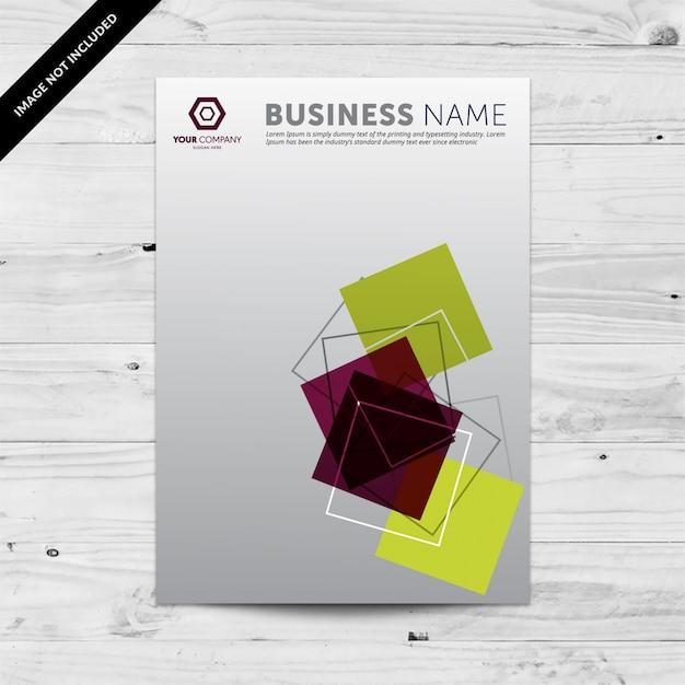 Business Flyer Design-Vorlage mit Farbverlauf Hintergrund und ...