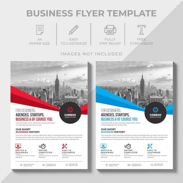 Business-flyer-design Premium Vektoren