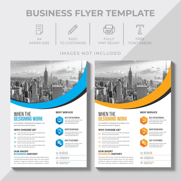 Business-flyer-vorlage Premium Vektoren