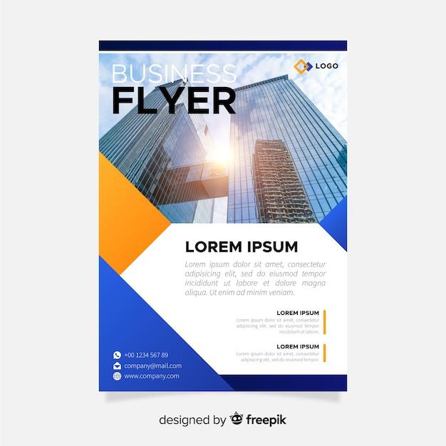 Business-flyer-vorlage Kostenlosen Vektoren