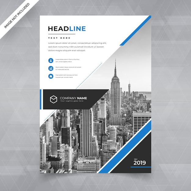 Business flyer vorlage Premium Vektoren