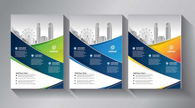 Business flyer vorlagen Premium Vektoren