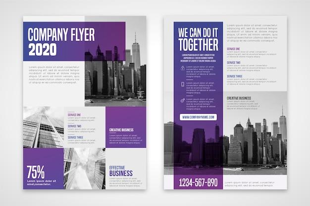Business flyer wir schaffen das gemeinsam Kostenlosen Vektoren