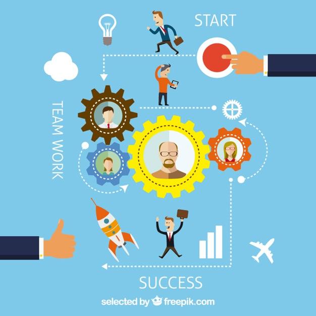 Business-grafik- Kostenlosen Vektoren