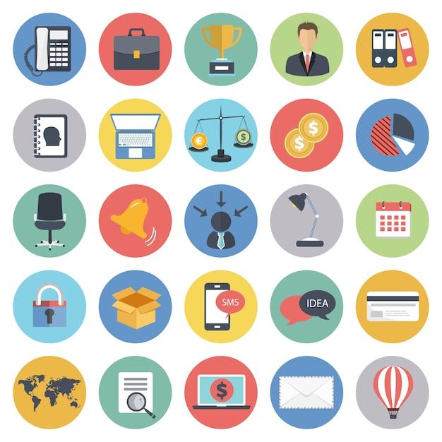 Business-icon-set für websites und mobile anwendungen Premium Vektoren