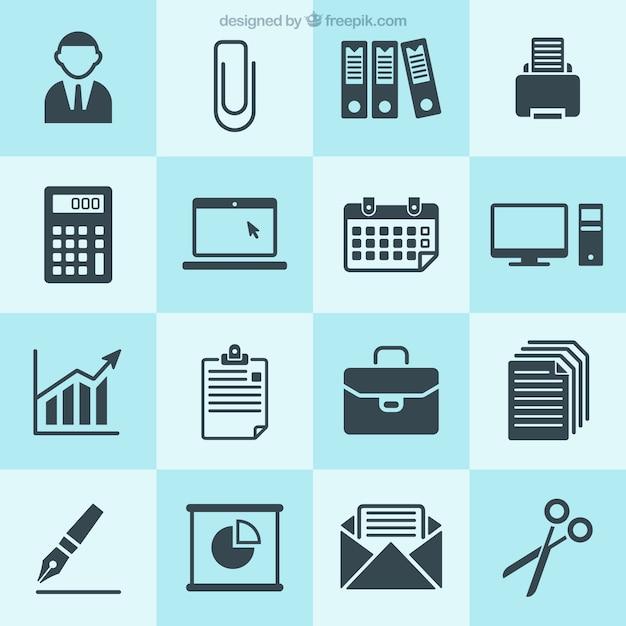 Business icons sammlung Kostenlosen Vektoren