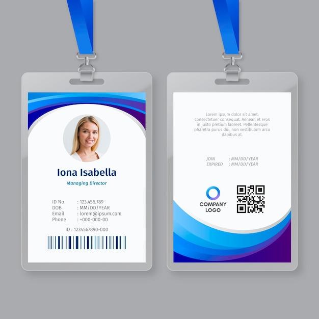 Business id card vorlage Premium Vektoren