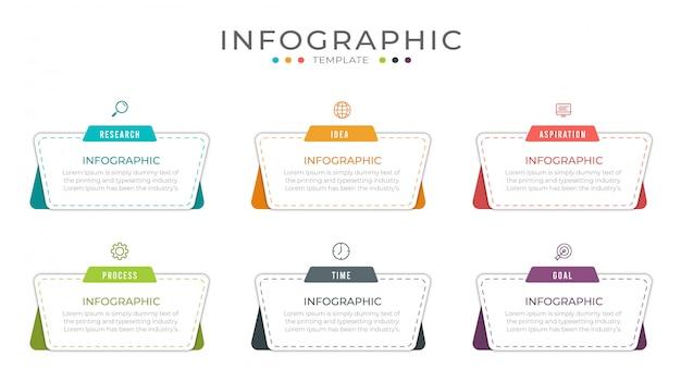 Business infografik design kann für workflow-layout, diagramm, jahresbericht verwendet werden. Premium Vektoren
