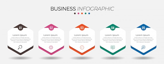 Business-infografik-element mit optionen Premium Vektoren