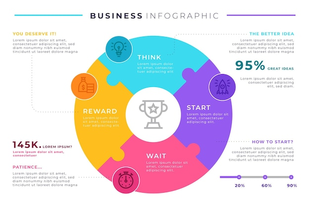 Business infografik template design Kostenlosen Vektoren