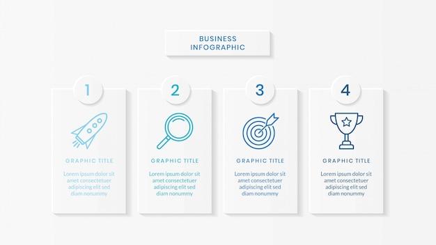 Business-infografik-vorlage Premium Vektoren