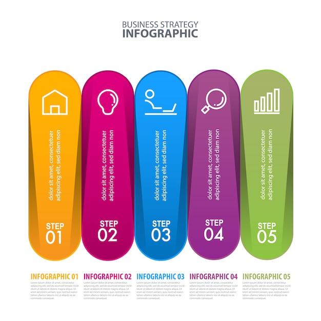 Business infographik vorlage Premium Vektoren