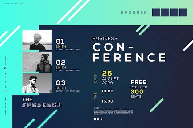 Business konferenz meeting corporate, kreatives design Premium Vektoren