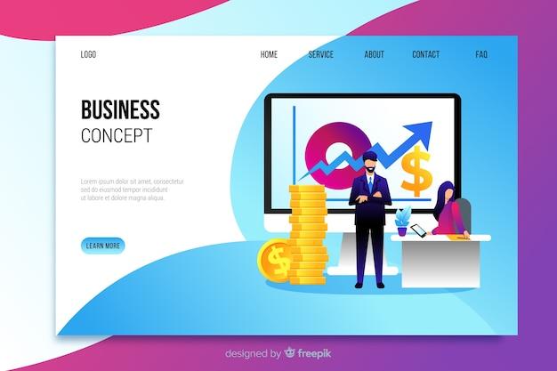 Business-konzept-landing-page-vorlage Kostenlosen Vektoren