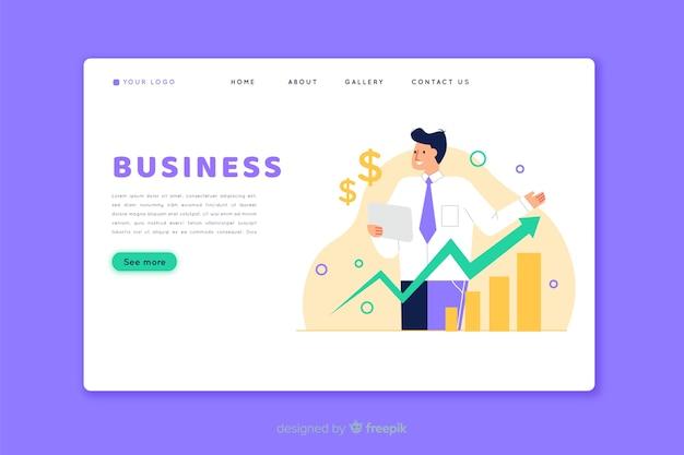Business landing page homepage Kostenlosen Vektoren