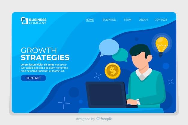 Business landing page-website Kostenlosen Vektoren
