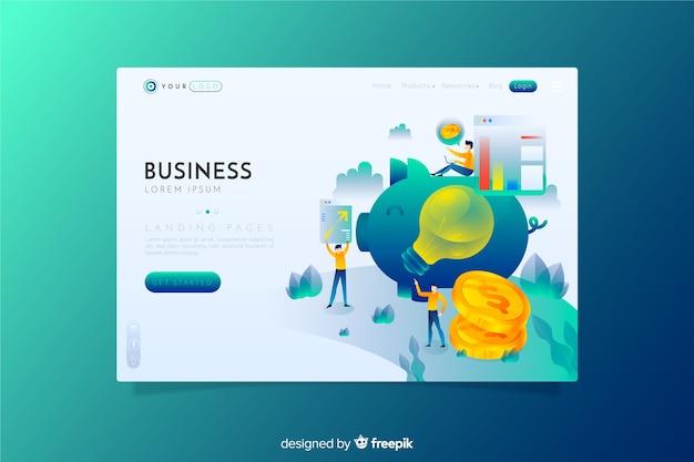 Business landing page Kostenlosen Vektoren