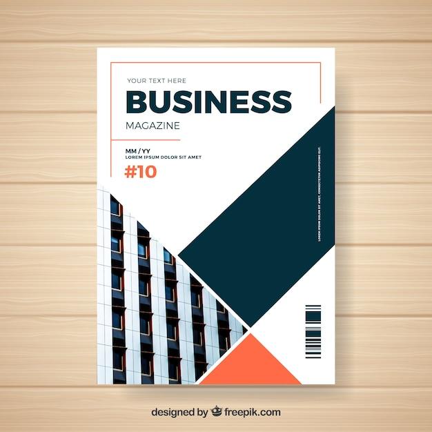 Business-magazin-vorlage Kostenlosen Vektoren