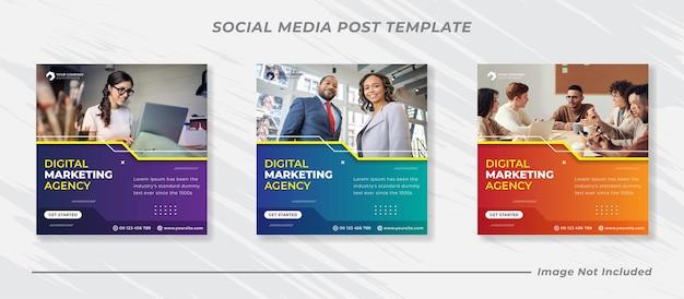 Business-marketing-social-media-post-banner-vorlage Premium Vektoren