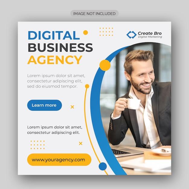 Business marketing social media post banner Premium Vektoren