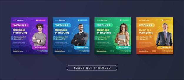 Business marketing webinar social media instagram post vorlage Premium Vektoren