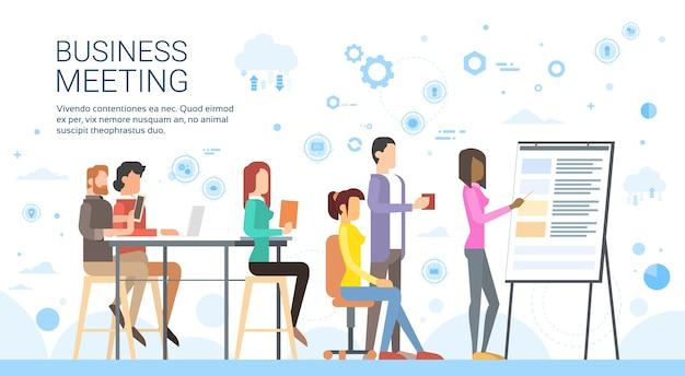 Business people gruppenpräsentation Premium Vektoren