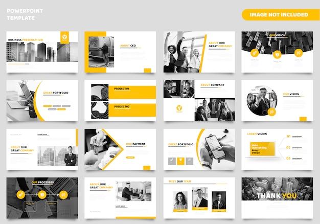 Business powerpoint-präsentationsvorlage Premium Vektoren