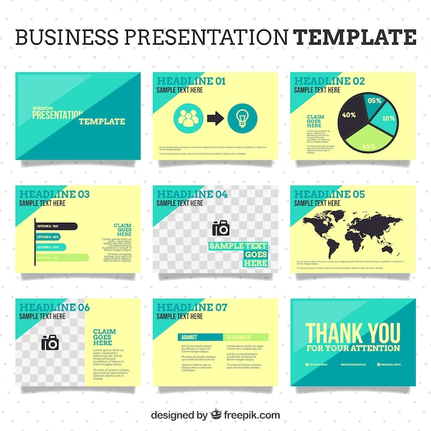 Business-Powerpoint-Vorlage | Download der Premium Vektor
