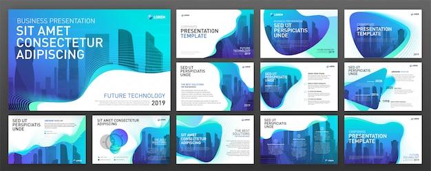 Business Präsentation Powerpoint Vorlagen Festgelegt