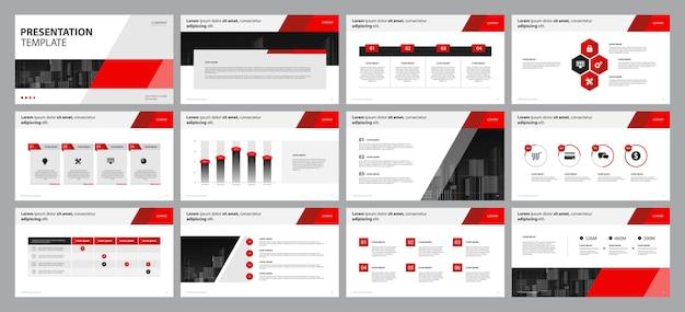 Business-präsentationsvorlage Premium Vektoren