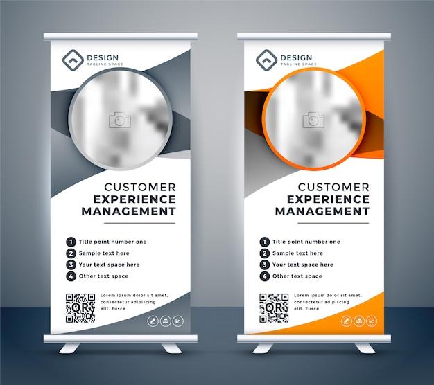 Business rollup banner für das marketing Kostenlosen Vektoren