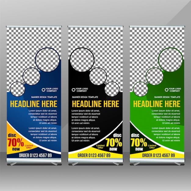 Business-rollup-banner-vorlage Premium Vektoren