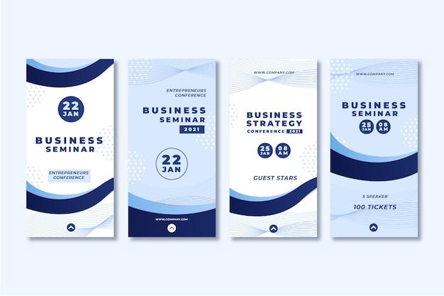 Business seminar instagram geschichten Kostenlosen Vektoren