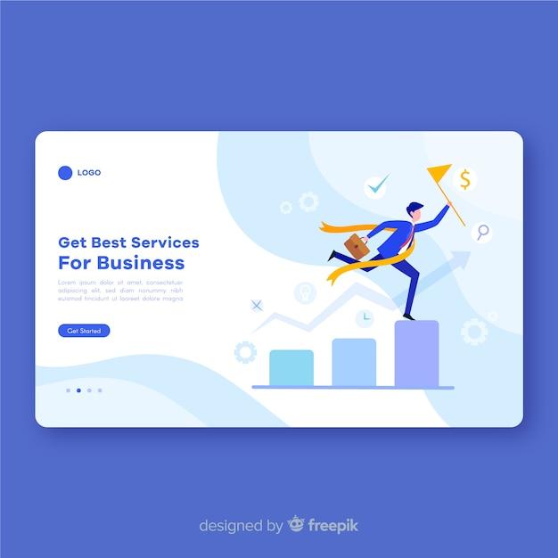 Business-services-landing-page-vorlage Kostenlosen Vektoren