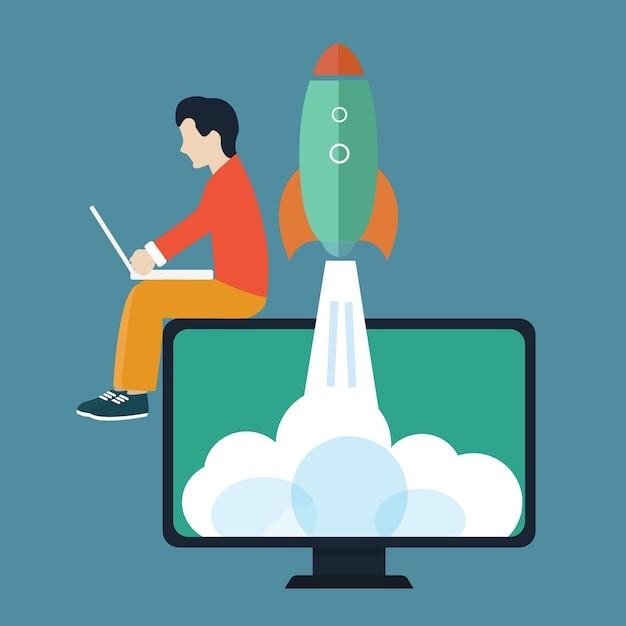 Business-start-konzept Kostenlosen Vektoren