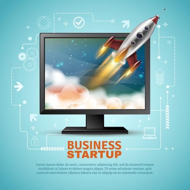 Business startup illustration Kostenlosen Vektoren