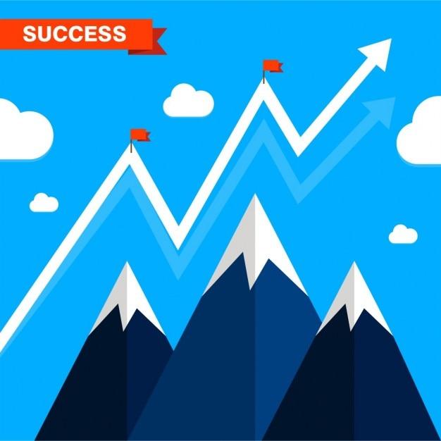 Business success illustration präsentation Kostenlosen Vektoren