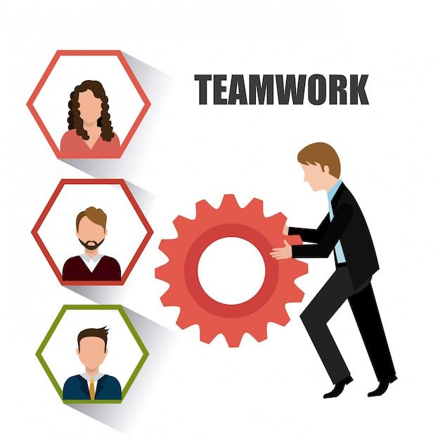 Business-teamwork-design. Premium Vektoren