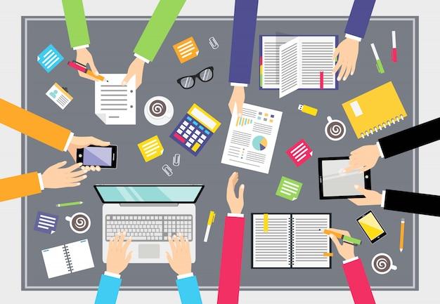Business-teamwork-konzept Kostenlosen Vektoren